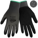 Global Glove Tsunami Grip Gray/Black Large Nylon Work Gloves - Nitrile Palm & Fingertips Coating - 500G-T