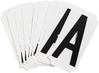 Brady Quik-Align 6500-A Black Vinyl Letter Label - Outdoor - 3 in Height - 3 in Character Height - B-933