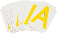 Brady Quik-Align 5060-A Yellow Vinyl Letter Label - Outdoor - 2 in Height - 2 in Character Height - B-933