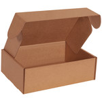 Shipping Supply Kraft Literature Mailers - 12 1/8 in x 9 1/4 in x 4 in - SHP-11701