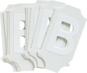 Brady Quik-Align 5040-B White Vinyl Letter Label - Outdoor - 1 in Height - 1 in Character Height - B-933