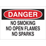 Brady B-302 Polyester Rectangle White No Smoking Sign - 10 in Width x 7 in Height - Laminated - 88378
