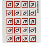 Brady 121191 White / Black / Red Diamond Polyester Chemical Hazard Label - 1.5 in Width - 1.5 in Height - B-7541