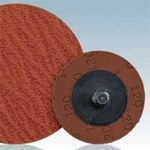 Dynabrade DynaCut Coated Ceramic Quick Change Disc - 80 Grit - Medium - 2 in Diameter - 92028
