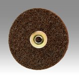 3M Scotch-Brite SC-DN Non-Woven Aluminum Oxide Brown Surface Conditioning Quick Change Disc - Coarse - 7 in Diameter - 24246