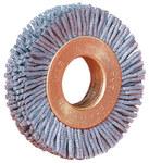 Weiler Silicon Carbide Wheel Brush 0.04 in Bristle Diameter 120 Grit - Arbor Attachment - 3 in Outside Diameter - 1/2 in Center Hole Size - 16263