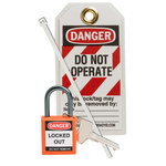 Brady Orange Lockout/Tagout Kit - 754473-71980