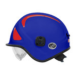 PIP Pacific A10 Blue Kevlar Ambulance and Paramedic Helmet - 3-Point Strap Type - Ratchet Adjustment - 616314-14891