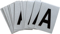 Brady Bradylite 5900-A Black on Silver Letter Label - Outdoor - 1 in Width - 1 1/2 in Height - 1 in Character Height - B-997