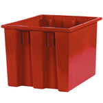 Red Stack & Nest Containers - 17 in x 14.5 in x 12.875 in - SHP-3044