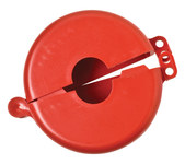 Brady Prinzing Safetee Red Gate Valve Lockout 46286 - 2 1/2 to 5 in Compatible Diameter - 754473-46286