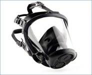 Sperian Survivair Opti-Fit CBRN Black Large Butyl Rubber Full Facepiece - DIN & Threaded Connection - 5-Point Suspension - 797402-008818