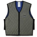 Ergodyne Chill-Its 6665 Gray Large Polymer Cooling Vest - Soak in Cold Water - 720476-12544
