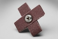 3M 341D A/O Aluminum Oxide AO Cross Pad 80 Grit - 1 1/2 in Width x 1 1/2 in Length - 1/2 in Pad Thickness - Maroon - 27372