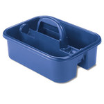 Akro-Mils Blue Industrial Grade Polymer Tote Caddy - 13 7/8 in Overall Length - 18 3/8 in Width - 9 in Height - 09185BLUE