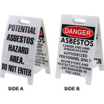 Brady B-836 Polypropylene Rectangle White Floor Stand Sign - 12 in Width x 20 in Height - 92288
