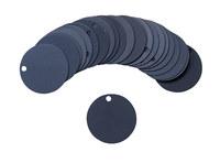 Brady 87605 Black Circle Aluminum Blank Valve Tag - 1 1/2 in Dia. Width - B-906