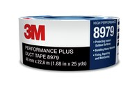 3M 8979 Performance Plus Blue Duct Tape - 48 mm Width x 54.8 m Length - 12.1 mm Thick - 25912