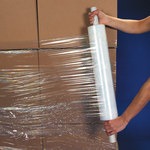Clear Extended Core Cast Stretch Film - 1000 ft x 15 in - 80 Gauge Thick - SHP-7130