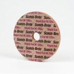3M Scotch-Brite RC-UW Unitized Ceramic Hard Deburring Wheel - Coarse Grade - Arbor Attachment - 4 in Diameter - 7/8 in Center Hole - 1/4 in Thickness - 64857