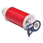 Brady 13601 Red Vinyl Continuous Thermal Transfer Printer Label Roll - 6 in Width - 50 ft Length - B-595