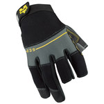 Valeo V235 Black 2XL Synthetic Leather Work Gloves - Neoprene Knuckles Coating - VI4848XE
