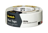 3M Scotch 1060 White Duct Tape - 1.88 in Width x 60 yd Length - 98214