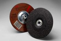 3M Standard (Type 27) Aluminum Oxide Depressed-Center Wheel - 24 Grit - Very Coarse Grade - 7 in Diameter - 1/4 in Thick - 92315