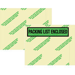Environmental Clear Face Document Envelopes - 7 in x 5.5 in - 2 Mil Poly Thick - SHP-8253