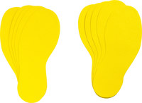 Brady 31550 Yellow Vinyl Footprint Marking Label - 3 3/4 in Width - 11 7/8 in Length