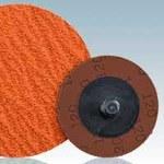 Dynabrade DynaCut Coated Ceramic Quick Change Disc - 80 Grit - Medium - 2 in Diameter - 78113