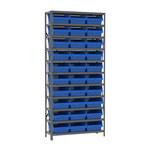 Akro-Mils Fixed Blue Gray Steel 22 ga Open Fixed Shelving - 32 - AS1279010