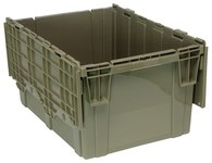 Quantum Storage 29.92 gal Gray Attached Lid Container - 28 in Length - 20 5/8 in Width - 15 5/8 in Height - 04723