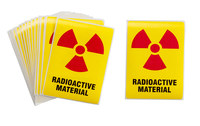 Brady 596-27 Rectangle Radiation Hazard Label - 44120