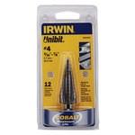 Irwin Unibit 3/16-7/8 in Step Drill Bit - M35 High-Speed Steel - 10234CB