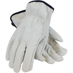 PIP 68-103 White Large Grain Cowhide Leather Gloves - Straight Thumb - 9.8 in Length - 68-103/L