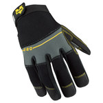 Valeo V220 Black/Gray 2XL Synthetic Leather Work Gloves - PVC Palm & Fingertips Coating - VI4845XE