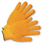 West Chester 708SKH Orange Large Acrylic/Polyester General Purpose Gloves - Wing Thumb - PVC Criss-Cross Pattern Both Sides Coating - 9.5 in Length - 708SKH/L