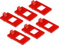Brady Red Polypropylene Lockout Cleat 65404 - 1.13 in Width - 0.13 in Height - 754476-65404