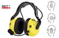 Sonetics Yellow Communication Headset - 24 hr Battery Powered - 24 dB NRR - APX377-OH
