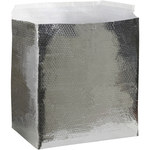 Shipping Supply Silver Insulated Box Liners - 14 in x 10 in x 10 in - 3/16 in Thick - SHP-11864