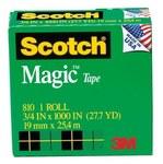3M Scotch 810 Magic Clear Office Tape - 3/4 in Width x 1000 in Length - 59688