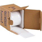 Brady PermaSleeve 3FR-094-2-WT-S-2 White Polyolefin Die-Cut Thermal Transfer Printer Sleeve - 1 in Width - 0.182 in Height - 0.023 in Min Wire Dia to 0.08 in Max Wire Dia - Double-Side Printable - B-3