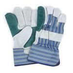 NuTrend ProWorks GWLDBP1 Gray/Stripe Universal Split Cowhide Leather Work Gloves