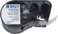 Brady M-49-494-RD Red / White Polyester Die-Cut Thermal Transfer Printer Cartridge - 1 in Width - 1 in Height - B-494