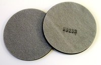 3M 56459 Soft White Stikit PSA Disc Pad - 5 in Diameter