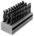 Chicago-Latrobe 190 Reduced Shank Drill Set - Radial 118° Point - Spiral Flute - Right Hand Cut - High-Speed Steel - 69858