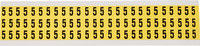 Brady 34 Series 3410-5 Black on Yellow Vinyl Cloth Number Label - Indoor - 11/32 in Width - 1/2 in Height - 3/8 in Character Height - B-498