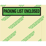 Environmental Clear Face Document Envelopes - 7 in x 5.5 in - 2 Mil Poly Thick - SHP-8249
