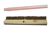 Weiler 448 Driveway Coater Brush Kit - Wood 48 in Handle - Palmyra Bristle - 18 in Block - 44885